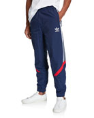 Adidas Men's Side-Striped Woven Track Pants