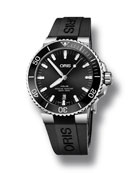 Oris Men's 43.5mm Aquis Automatic Watch, Black/Steel