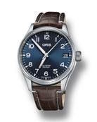 Oris Men's 41mm Propilot Watch w/ Leather Strap,
