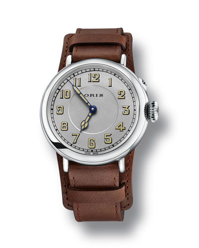 Men's 40mm Big Crown Watch w/ Leather Strap