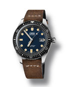 Oris Men's 42mm Diver Watch w/ Leather Strap,