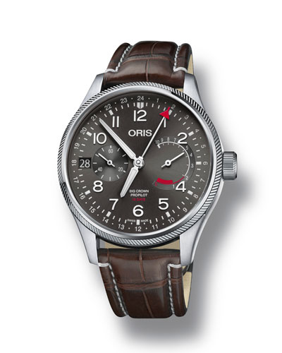 Men's 44mm Propilot Chronograph Watch, Gray/Brown