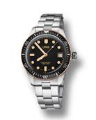 Oris Men's 36mm Diver Bracelet Watch w/ Bronze,