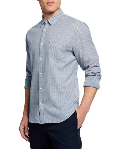 Men's Double-Face Striped Sport Shirt