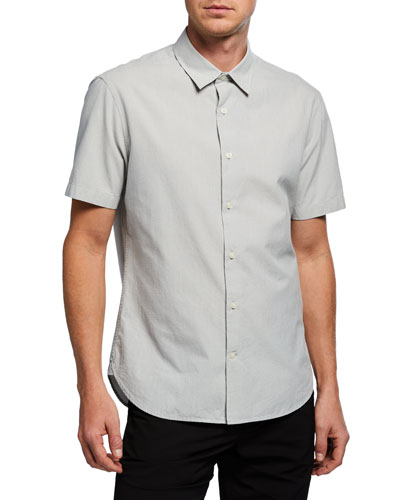 Men's Short-Sleeve Micro Stripe Shirt