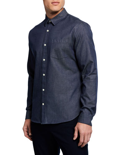 Men's Long-Sleeve Chambray Sport Shirt