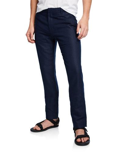 Men's Griffin Linen-Blend Chino Pants