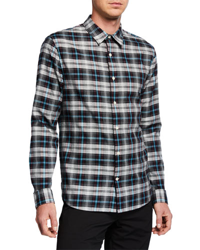 Men's Novelty Plaid Sport Shirt