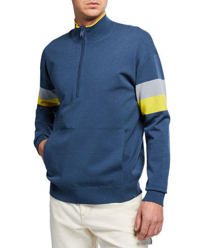 Men's Colorblock Half-Zip Sweatshirt