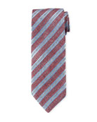 Canali Men's Striped Linen/Cotton Tie
