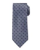 Canali Men's Silk Parquet With Dots Tie