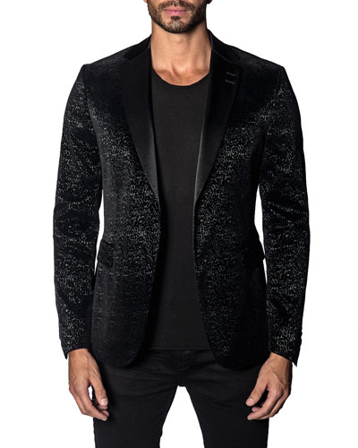 Men's Custom Graphic Single-Button Jacket