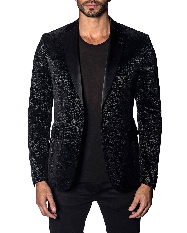 Men's Custom Graphic Single-Button Jacket