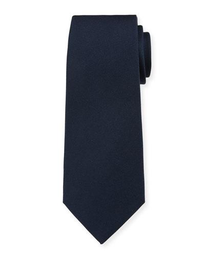 Solid Silk Twill Tie, Navy