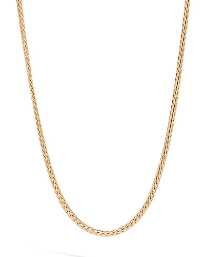 Men's Classic Chain 18k Gold Mini Necklace, 2.5mm