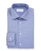 Eton Men's Basic Slim-Fit Houndstooth Dress Shirt