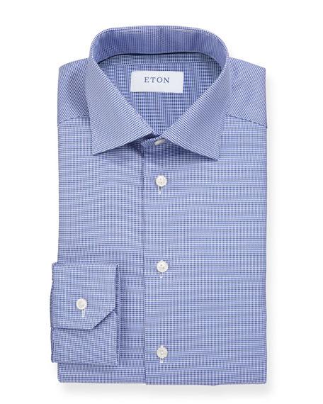 Eton Men's Basic Slim-Fit Houndstooth Dress Shirt