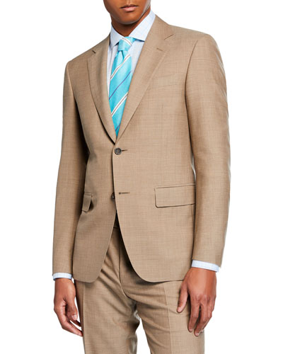 Men's Dark Solid Two-Piece Suit