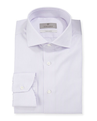 Men's Lilac Double Stripe Dress Shirt