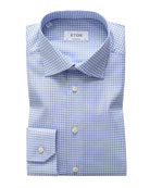 Eton Men's Contemporary-Fit Grid-Pattern Dress Shirt