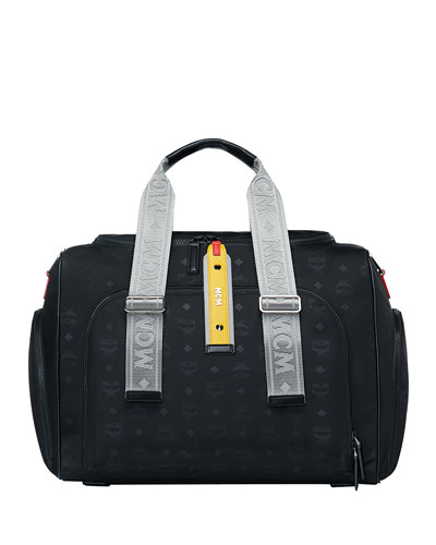 Men's Resnick Monogrammed Nylon Weekender Bag