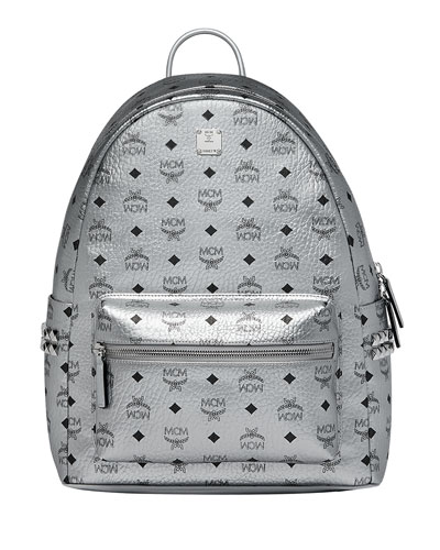 Men's Stark Logo Visetos Backpack, Silver