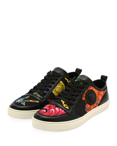 Men's Graphic-Print Low-Top Sneakers