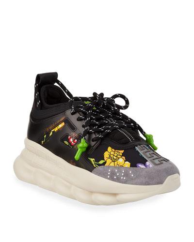 c9e49d3a0d31 Quick Look. Versace · Men's Chain Reaction Printed Sneakers