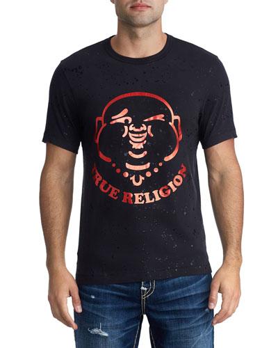 Men's Winking Buddha Graphic T-Shirt