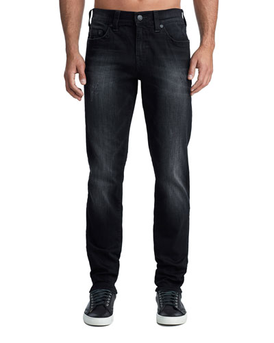 Men's Geno Five-Pocket Straight-Leg Jeans in Midnight Starfall