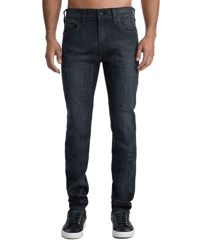 Men's Rocco Five-Pocket Skinny Jeans in Dark Asteroid