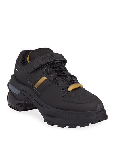 Men's Retrofit Leather Trainer Sneakers