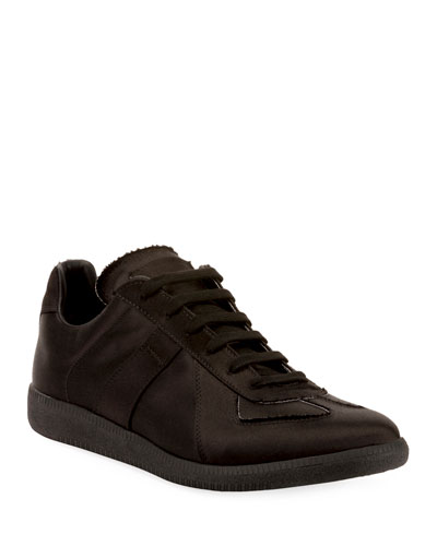 Men's Replica Low-Top Satin Sneakers