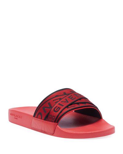 4740f853782 Quick Look. Givenchy · Men s Multi Logo-Webbing Rubber Slide Sandals
