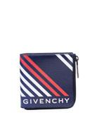 Givenchy Men's Lines-Print Canvas Zip Wallet