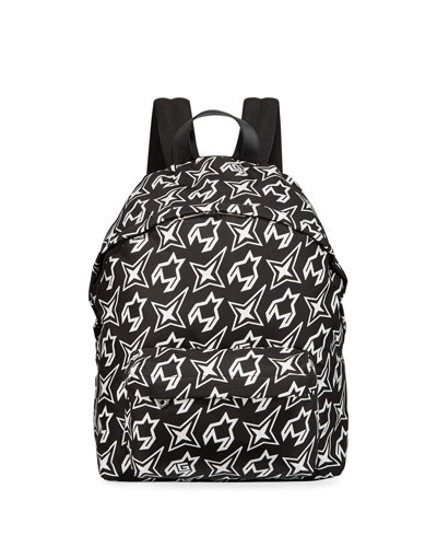 Men's Cosmic Printed Nylon Backpack