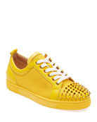 Christian Louboutin Men's Louis Junior Spiked Sneakers