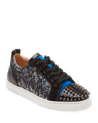 Christian Louboutin Men's Louis Junior Spike Low-Tip Sneakers