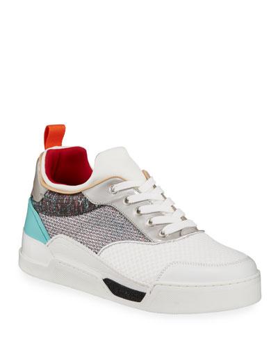 Men's Aurelien Metallic Mid-Top Sneakers