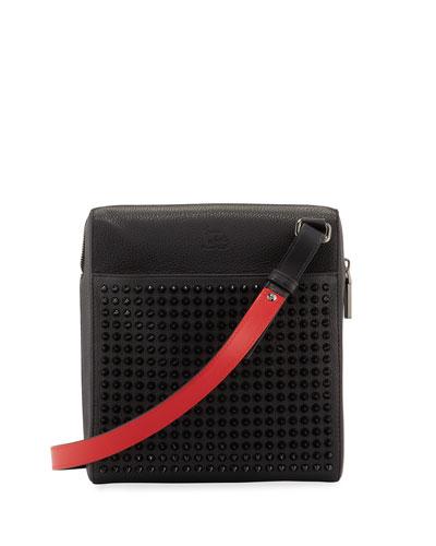 Men's Benech Studded Crossbody Briefcase