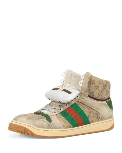 Men's Screener High-Top GG Canvas Sneakers