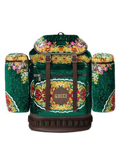Men's Tapestry Flap-Top Backpack