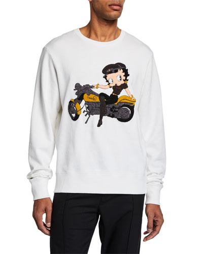 Men's Betty Boop Graphic Sweatshirt