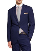 Brunello Cucinelli Men's 150GR Travel Solid Wool-Silk Two-Piece