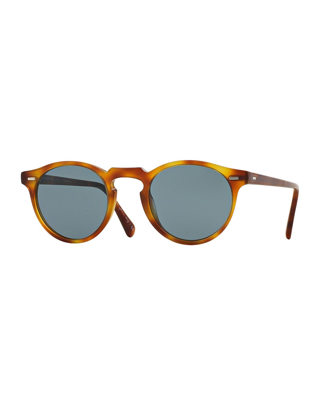 Gregory Peck Round Plastic Sunglasses
