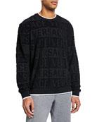Versace Men's Crewneck Tonal-Logo Sweatshirt