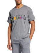 Versace Men's Logo-Embroidered Figures T-Shirt