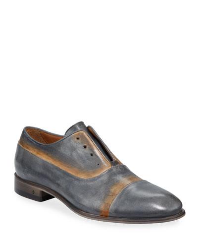 Men's Eldridge Laceless Leather Oxfords