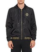 Versace Men's Greek Key Zip-Front Jacket