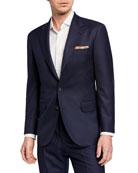 Brunello Cucinelli Men's Two-Piece Pied-de-Poule Super 120s Wool